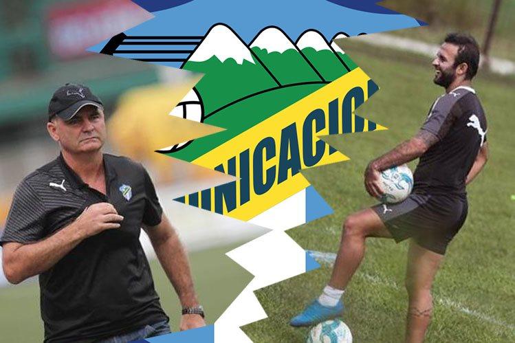 Iván Sopegno se enfrenta a su capitán, al ídolo crema, José Manuel Contreras. Hoy no estará contra Mictlán. (Foto Prensa Libre)