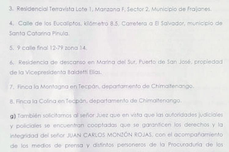 La exhibición  personal planteada por la aboga Ana Lucía Botrán ( Foto Prensa Libre: Estuardo Paredes)