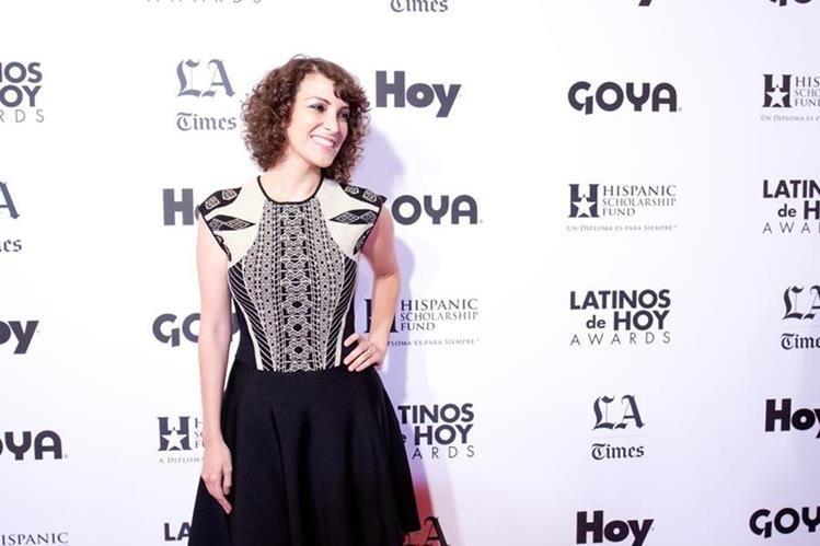 Gaby Moreno participó en los premios Latinos de Hoy celebrados en el Teatro Dolby de Los Ángeles. (Foto Prensa Libre: EFE)