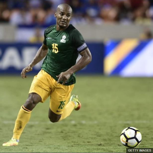 Malouda, quien jugó 80 partidos con Francia, está representando a Guayana Francesa.