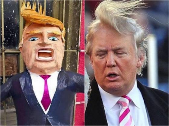 Las piñatas de Donald Trump tuvieron repentinamente alta demanda en lciudades estadounidenses.