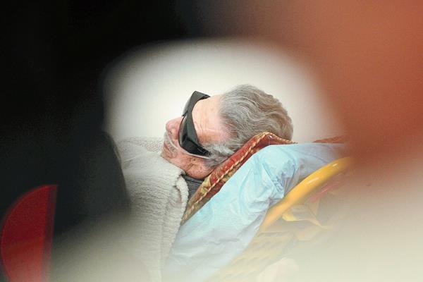 El pasado  5 de enero Ríos Montt llegó a los tribunales en camilla, aduciendo quebrantos de salud. (Foto Prensa Libre: Hemeroteca PL)