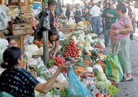 Los precios de los productos básicos registraron un incremento en febrero respecto de enero, informó el INE. (foto Prensa Libre: Hemeroteca PL)