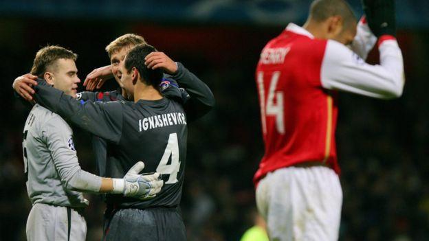 La última alegría individual, el empate sin goles frente a Arsenal el 1 de noviembre de 2006. (Getty Images)
