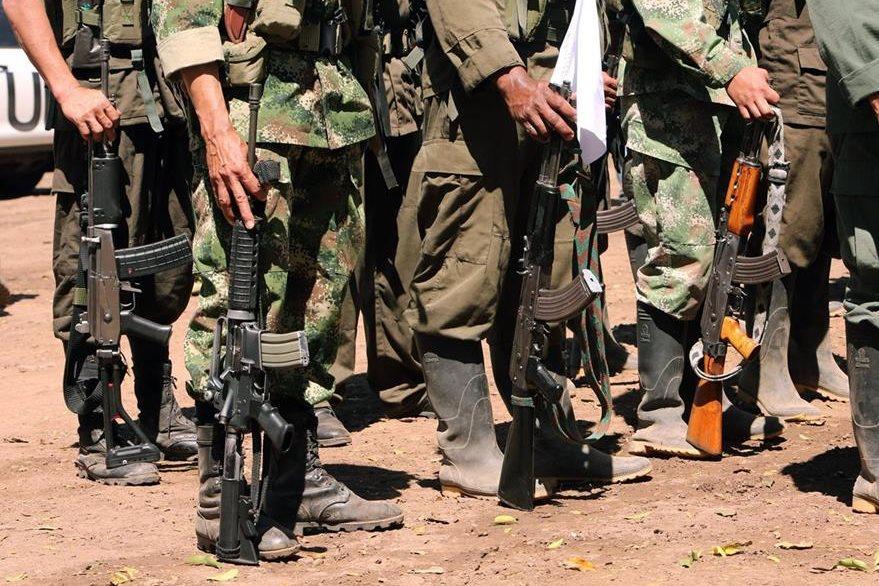 Las Farc y la ONU en Colombia comenzaron el registro de las armas de esa guerrilla.(EFE).
