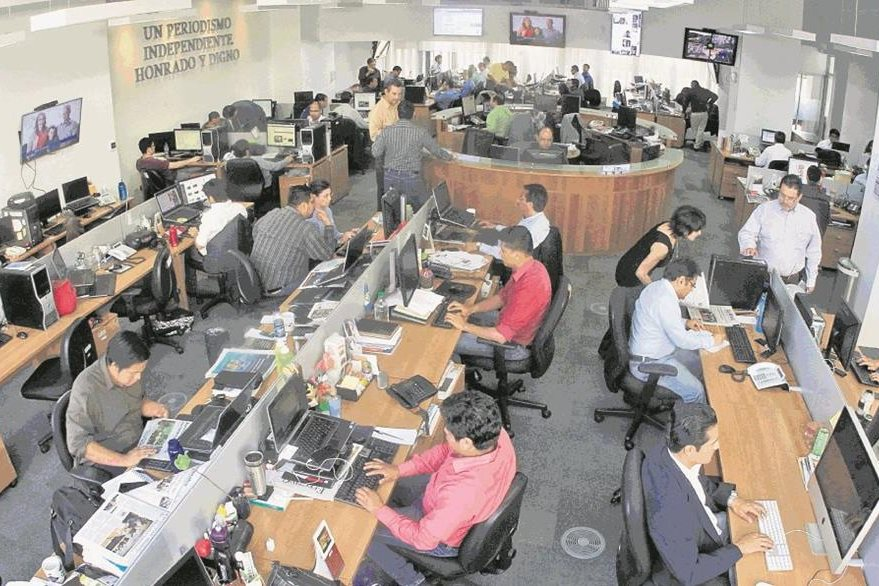 La Redacción de Prensa Libre en 2015. (Foto: Hemeroteca PL)