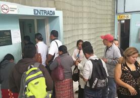 En el Hospital Roosevelt tampoco atendió la consulta externa. (Foto Prensa Libre: Estuardo Paredes)