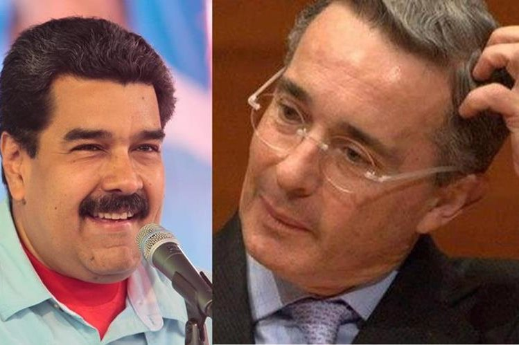 <em>Nicolás Maduro, presidente de Venezuela y Álvaro Uribe expresidente de Colombia. (Fotos Prensa Libre: Internet).</em>