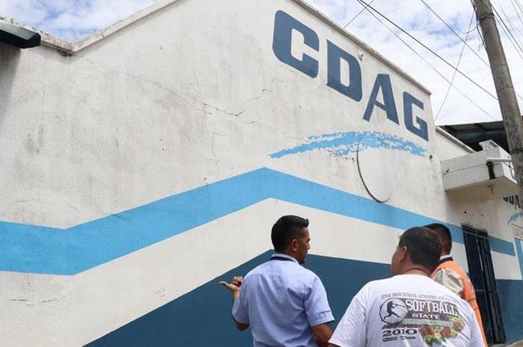 La Casa del Deportista en Mazatenango también resultó dañada. (Foto Prensa Libre: Cristian I. Soto)