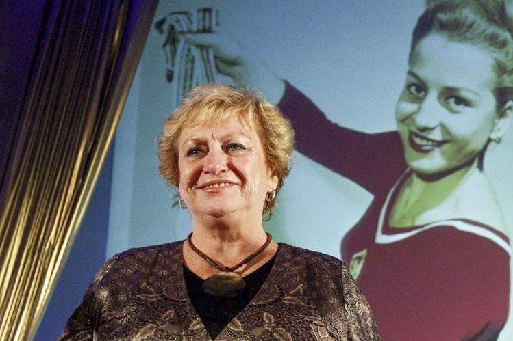 Vera Caslavka falleció este miércoles en Praga. (Foto Prensa Libre: EFE)