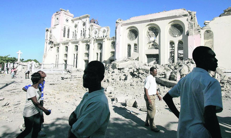 La Catedral de Puerto Príncipe quedó en ruinas. (Foto: EFE)