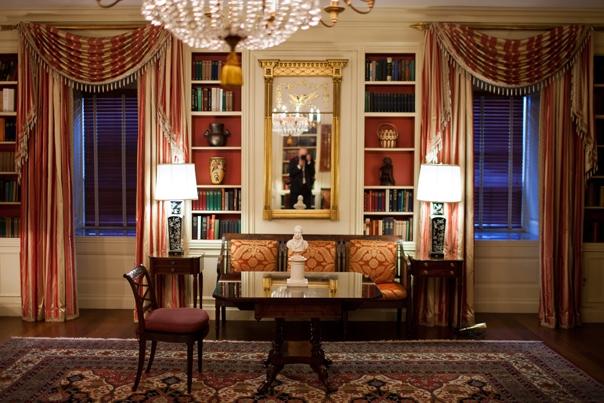 Una de las librerías de la Casa Blanca. (Foto tomada del sitio: www.whitehouse.gov).