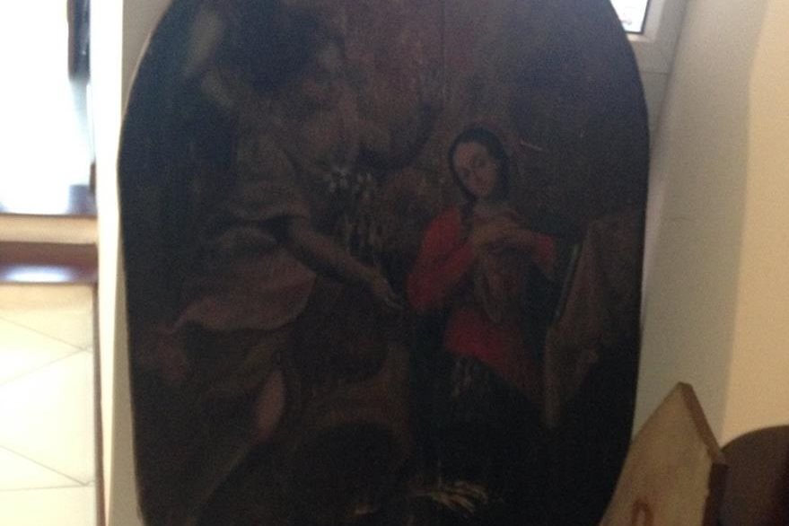 Obras de arte halladas en la residencia del supuesto narcotraficante Raúl Arturo Contreras Chávez, alias Calaca o El Comisario. (Foto Prensa Libre)