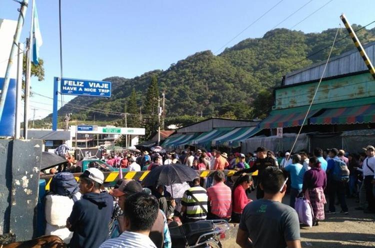 Manifestación en La Mesilla, Huehuetenango