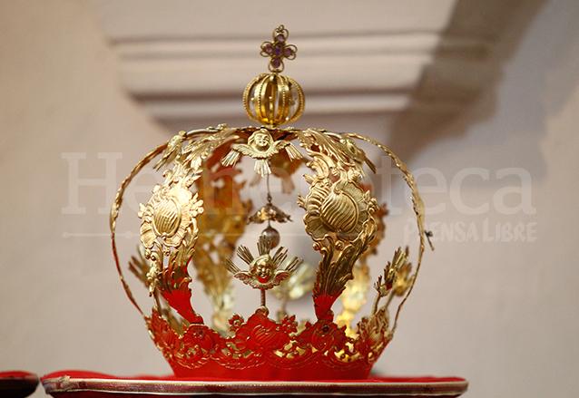 La valiosa corona de la Virgen de La Merced restaurada en 2013. (Foto: Hemeroteca PL)