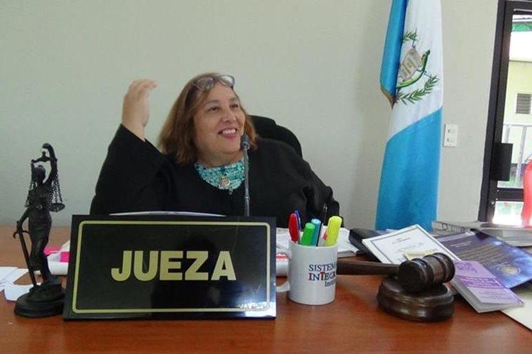 Jueza Diana Lucrecia Salazar. (Foto Prensa Libre: Edwin Paxtor).
