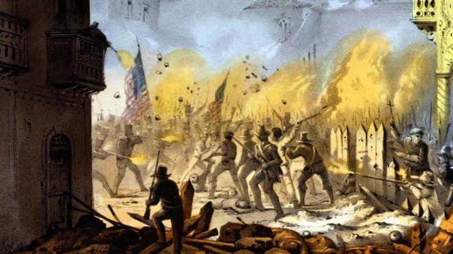 En 1846, voluntarios de Tennessee, Mississippi, Ohio y Texas pelearon en la Batalla de Monterrey, la cual duró tres días. GETTY IMAGES