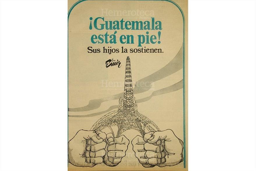 Una marca de 1976 motiva a los guatemaltecos a seguir adelante. (Foto: Hemeroteca PL)