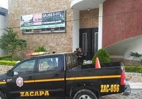 Gimnasio donde se registró el ataque en la cabecera de Zacapa. (Foto Prensa Libre: Mario Morales).