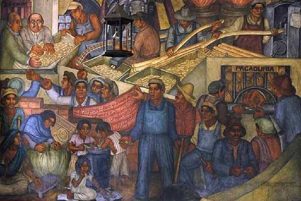 Obras de diego rivera se exhiben en nueva york for Diego rivera mural new york
