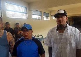 Tres supuestos pandilleros que se acreditan la muerte de un recluso en Fraijanes I. (Foto Prensa Libre: Cortesía)