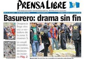 Portada de Prensa Libre del 21 de junio de 2008. (Foto: Hemeroteca PL)