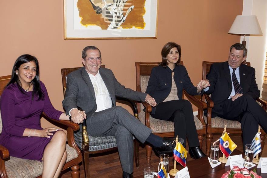 Reunión de cancilleres de Venezuela y colombia, en Ecuador. (EFe)