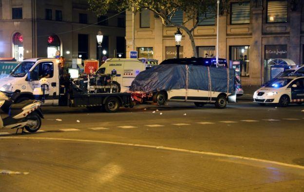 En los ataques de Barcelona del pasado mes de agosto, los atacantes usaron una furgoneta alquilada. REUTERS