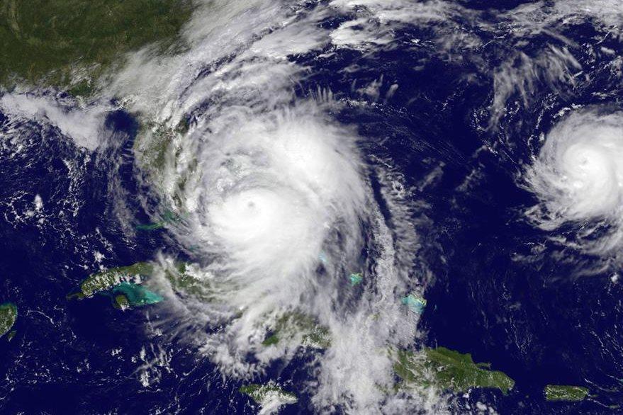 Imagen satelital del poderoso huracán Matthew. (Foto Prensa Libre: EFE).