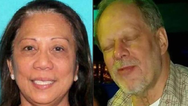 Marilou Danley (izquierda) se encuentra en custodia temporal. Vivía con Stephen Paddock. REUTERS