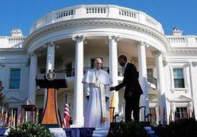 El papa Francisco visitó la Casa Blanca y se reunió con obispos en la catedral de Washington.