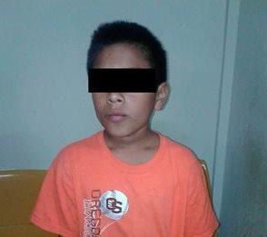 Menor de 11 años es señalado por extorsión. (Foto Prensa Libre: Cortesía PNC)