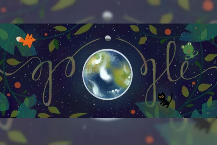 Con un doodle especial Google celebra el Día de la Tierra. (Foto Prensa Libre: Google)