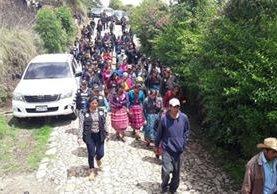 Al menos 70 familias retornaron a su hogar en aldeas Nuevo Amanecer y Las Brisas, Tajumulco, San Marcos, informaron autoridades. (Foto, Prensa Libre: PNC)