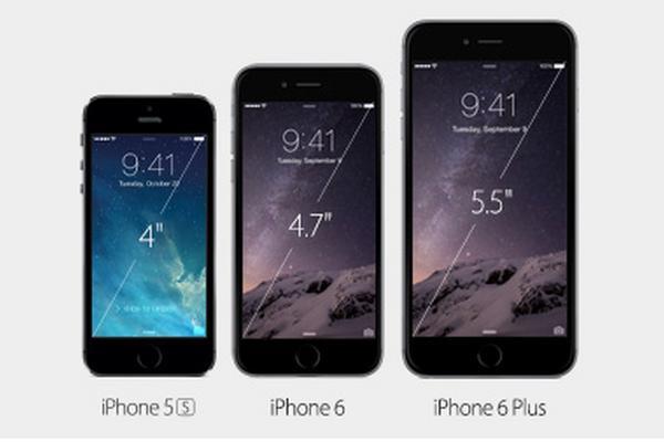 Evolución del iPhone, la sexta generación del móvil se diferencia por el tamaño de la pantalla. (Foto Prensa Libre)