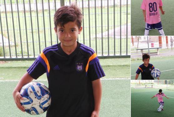Rayane Bounida, de 10 años, es una de las figuras del Anderlecht. (Fotos redes sociales).