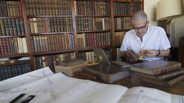 Josiah Marvel ha estudiado los textos sobre el primer viaje de Colón durante décadas. OLIVIA SAVOURE