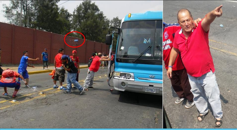 Deportivo Suchitepéquez identificó a uno de los agresores al bus de su equipo. (Foto Prensa Libre: Deportivo Suchitepéquez).