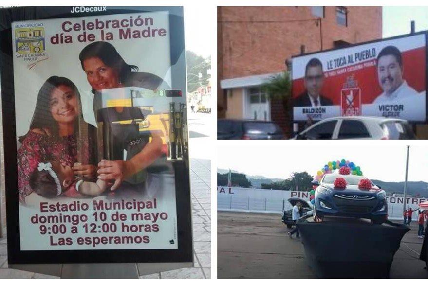 Fotografías presentadas al MP como prueba de la actividad, supuestamente financiada con fondos municipales. (Foto Prensa Libre: Cortesía)