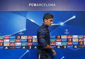 Paulo Dybala habló de las comparaciones que se han realizado con Messi en la previa del juego de la Juventus contra el Barcelona. (Foto Prensa Libre: AFP).