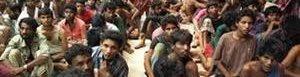 Migrantes rescatados.<br />