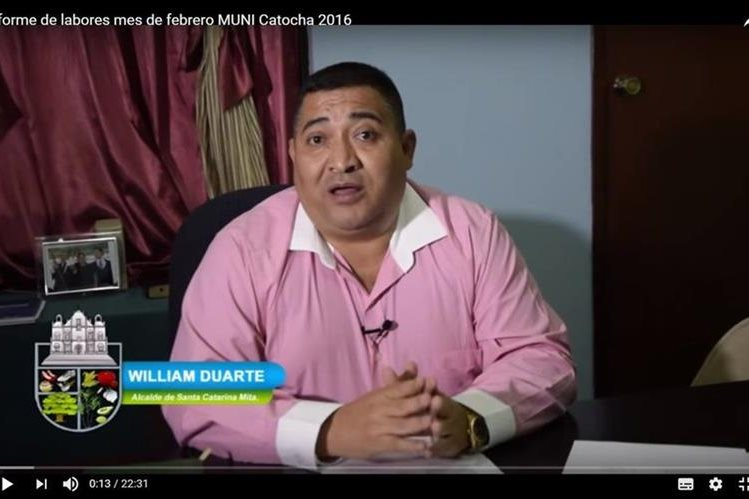William Duarte, alcalde de Santa Catarina Mita, es sindicado de testaferrato y falsificación de documentos privados, y está implicado en el caso Lavado y Política. (Foto Prensa Libre: Municipalidad de Santa Catarina Mita)