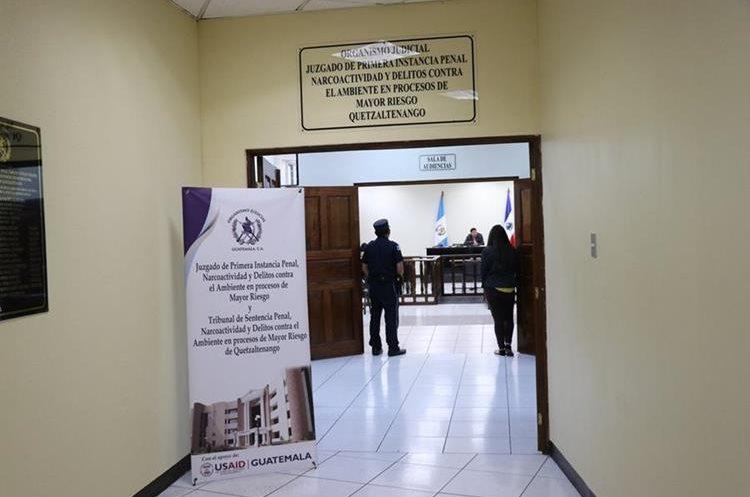 El juzgado de Mayor Riesgo de Quetzaltenango ha suspendido tres audiencia de un mismo caso. (Foto Prensa Libre: María José Longo)