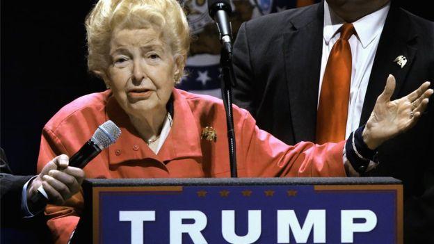Phyllis Schlafly aplaudía las propuestas de Donald Trump en materia de inmigración. AP