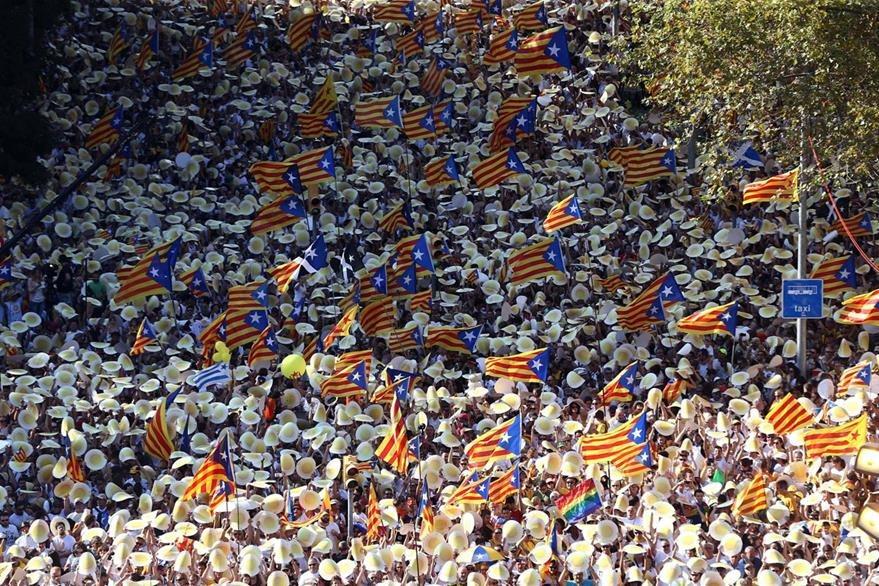 Barcelona fue el centro de las grandes marchas. (EFE)