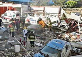 La explosión causó devastación en un hospital materno infantil en México.
