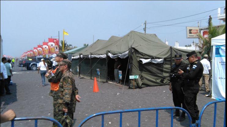 Campamento Sinaprese en Puerto de San José (Foto Urías Gamarro)