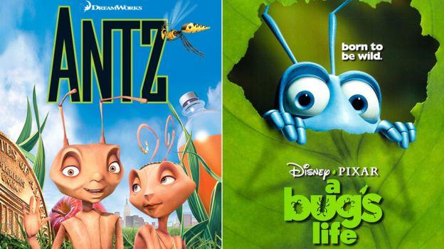 """Pixar, que produjo """"Bichos"""", acusó a Dreamworks de haberse robado la idea de su cinta animada con """"Hormiguitaz"""". DREAMWORKS/PIXAR"""