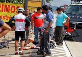 Andrea de Silvestris fue uno de los más afectados en el accidente ocurrido a la altura de la Aldea El Camán, Patzicía. (Foto Prensa Libre: FNC)