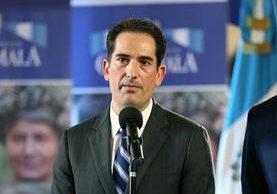 Víctor Manuel Asturias, es el nuevo ministro de Economía. (Foto Prensa Libre: Presidencia)